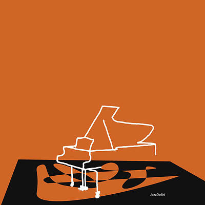 Digital Art - Piano In Orange by David Bridburg