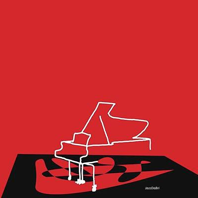 Music Photograph - Piano In Red Prints Available At by Jazz DaBri