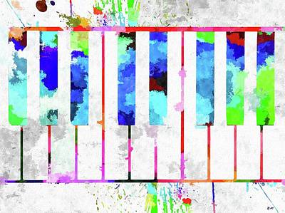 Mixed Media - Piano Keyboard by Daniel Janda