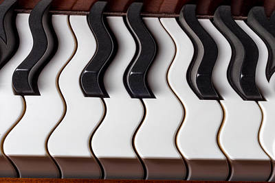 Distort Photograph - Piano Keyboard Waves by Garry Gay