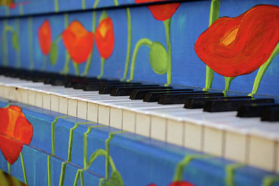 Photograph - Piano Keys And Flowers by Monte Stevens