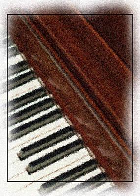 Piano Keys Art Print by Carolyn Marshall