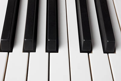 Keyboards Photograph - Piano Keys Close Up by Garry Gay
