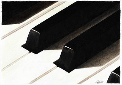 Piano Keys Art Print by Jeanne Delage