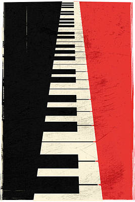 Digital Art - Piano Keys by IamLoudness Studio