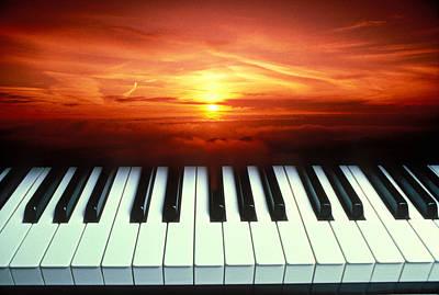 Piano Keys Sunset Art Print by Garry Gay