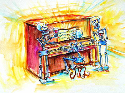 Print featuring the painting Piano Man by Heather Calderon