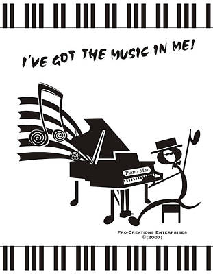 Piano Man Art Print