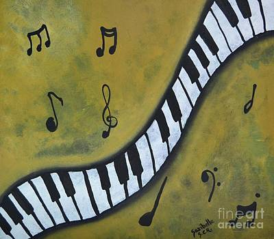Painting - Piano Music Abstract Art By Saribelle by Saribelle Rodriguez