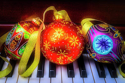 Photograph - Piano Ornament Still Life by Garry Gay
