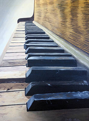 Painting - Piano Perspective by Dustin Miller