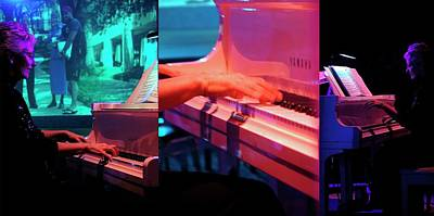 Photograph - Piano Player Trio by Jerry Sodorff