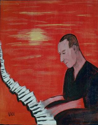 Piano Player Art Print by Van Winslow