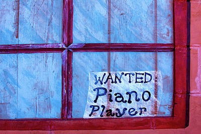 Photograph - Piano Player Wanted by Phil Cardamone
