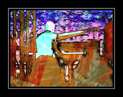 Photograph - Piano Player With Black Border by Dorothy Berry-Lound