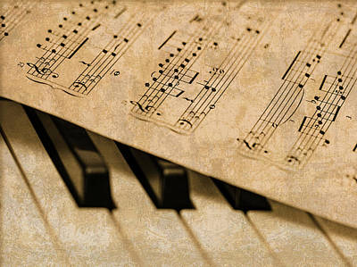Sheet Music Mixed Media - Piano Sheet Music by Design Turnpike