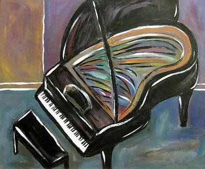 Impressionism Paintings - Piano with High Heel by Anita Burgermeister