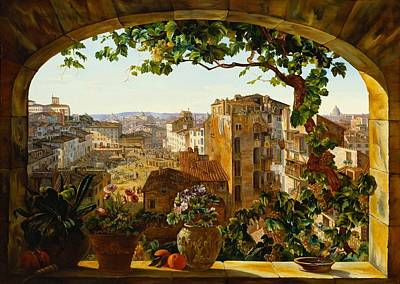 Beautiful Vistas Painting - Piazza Barberini Rome by Mountain Dreams