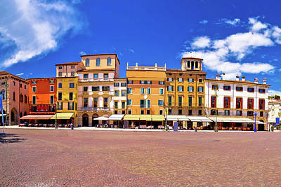 Photograph - Piazza Bra Square In Verona Colorful View by Brch Photography