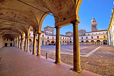 Photograph - Piazza Castello In Mantova Architecture View by Brch Photography
