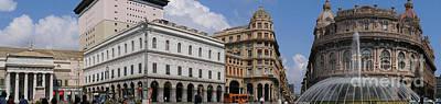 Photograph - Piazza De Ferrari In Genoa Italy by Brenda Kean