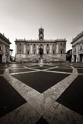 Photograph - Piazza Del Campidoglio by Songquan Deng