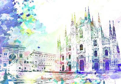 Piazza Del Duomo, Milano Art Print