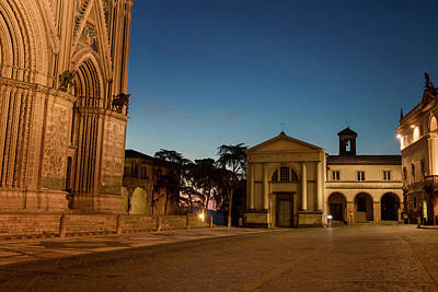 Photograph - Piazza Del Duomo Orvieto Italy by Joan Carroll