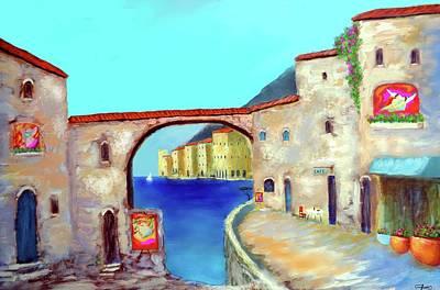 Painting - Piazza Del La Artista by Larry Cirigliano