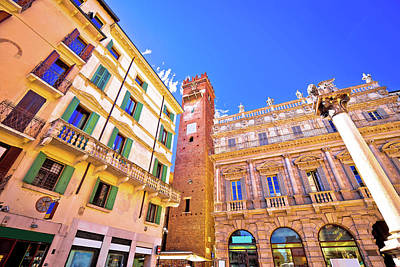 Photograph - Piazza Delle Erbe In Verona Street And Architecture View by Brch Photography