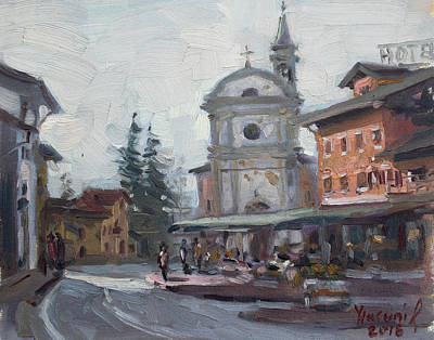 Church Street Painting - Piazza Di Limana by Ylli Haruni