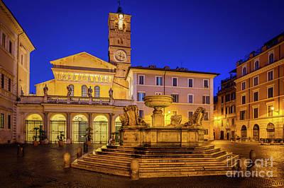 Piazza Di Santa Maria Art Print by Inge Johnsson