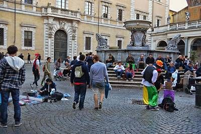 Photograph - Piazza Di Santa Maria by JAMART Photography
