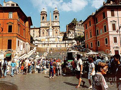 Photograph - Piazza Di Spagne - Rome, Italy by Merton Allen