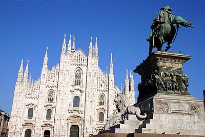 Piazza Duomo In Milan Art Print