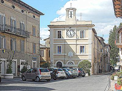 Photograph - Piazza Giuseppe Mazzini Tavernelle Umbria by Dorothy Berry-Lound