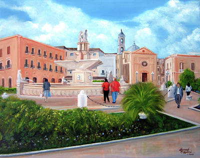 Painting - Piazza Mola Di Bari by Leonardo Ruggieri