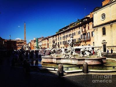 Photograph - Piazza Navona by Angela Rath
