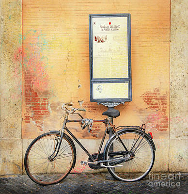 Photograph - Piazza Navona Bicycle by Craig J Satterlee
