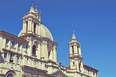 Photograph - Piazza Navona Church by JAMART Photography