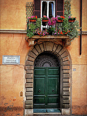 Art Print featuring the photograph Piazza Navona House by Marion McCristall