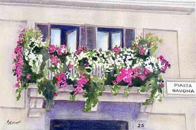 Piazza Navona Original by Marsha Elliott