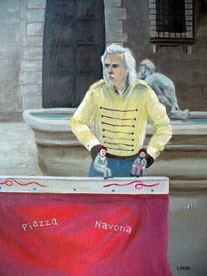 Piazza Puppeteer Art Print by Joe Lanni