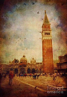 Digital Art - Piazza San Marco - Venice by Silvia Ganora