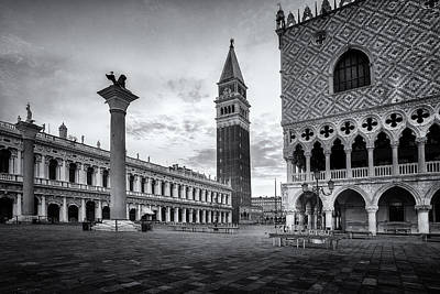 Doges Palace Photograph - Piazza San Marco by Andrew Soundarajan