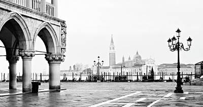 Photograph - Piazza San Marco Andsan Giorgio Maggiore - Venice by Barry O Carroll
