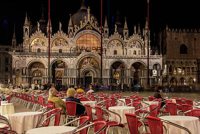 Photograph - Piazza San Marco At Night  by John McGraw