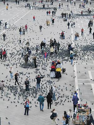 Venise Photograph - Piazza San Marco by Bernard Jaubert