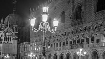 Photograph - Piazza San Marco Black And White  by John McGraw