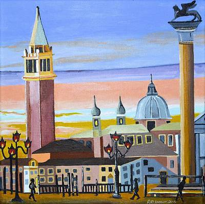 Painting - Piazza San Marco by Donna Blossom